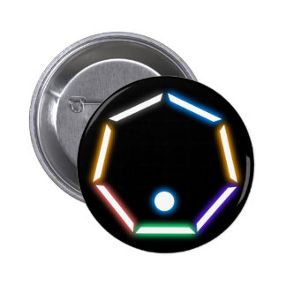 Neon Polygon Standard Round Button