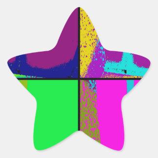 Neon Pop Star Sticker