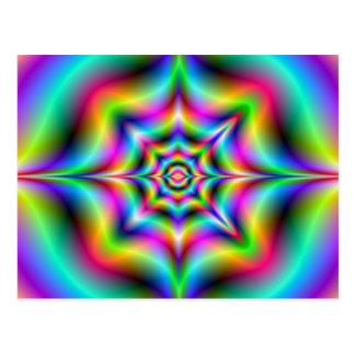 Neon Psychedelia Postcard