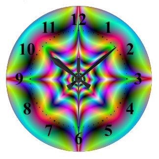 Neon Psychedelia Wall Clock