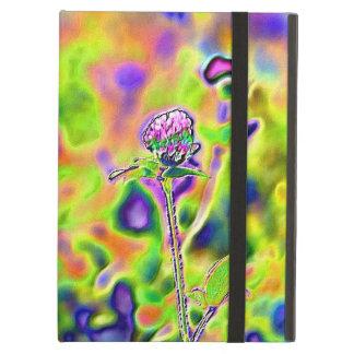 Neon Psychedelic Clover Flowers Powis iPad Case