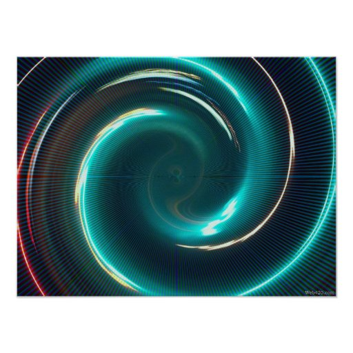 Neon psychedelic  spiral posters