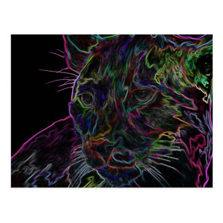 Neon Puma 2 Postcard