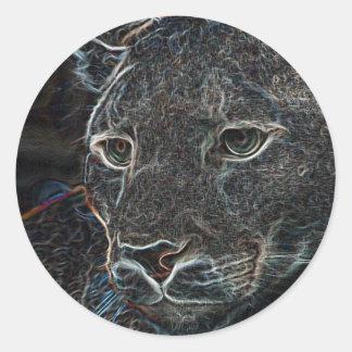 Neon Puma Classic Round Sticker