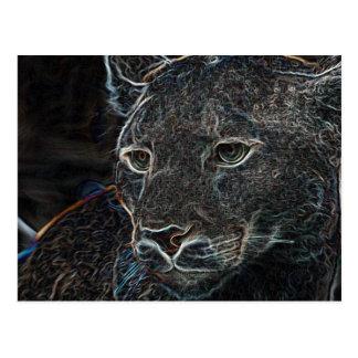 Neon Puma Postcard