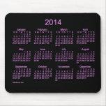 Neon Purple 2014 Calendar Mouse Pad