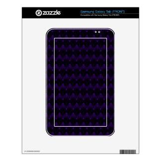 Neon Purple Alien Skull Pattern Samsung Galaxy Tab Skins