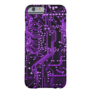 Neon Purple Alien Time Warp Circuit Barely There iPhone 6 Case