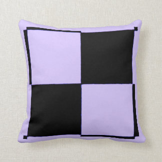 Neon Purple and Black Checkered Flag By RT STONE Pillows