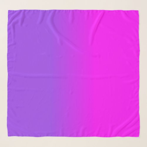Neon Purple and Hot Pink Ombre Shade Color Fade Scarf