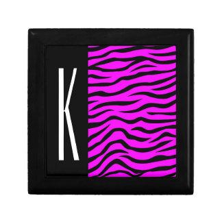 Neon Purple & Black Zebra Stripes Animal Print Gift Box