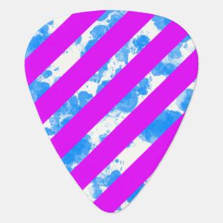 Neon Purple Blue Stripe Pick Standard