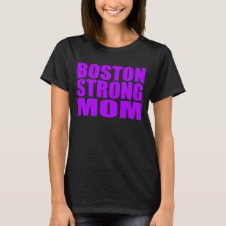 Neon Purple Boston Strong Mom Shirt
