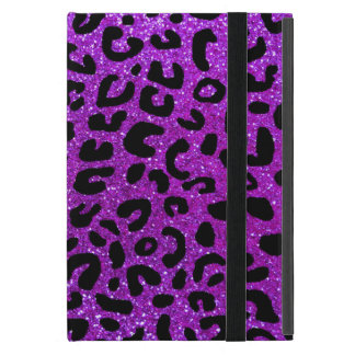 Neon purple cheetah print pattern iPad mini cases