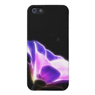 Neon Purple Flower Photo Case For iPhone SE/5/5s