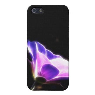 Neon Purple Flower Photo iPhone SE/5/5s Cover