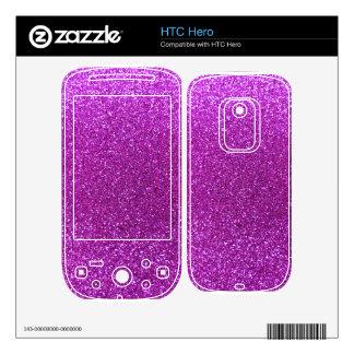 Neon purple glitter HTC hero decals
