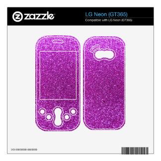 Neon purple glitter decals for the LG neon