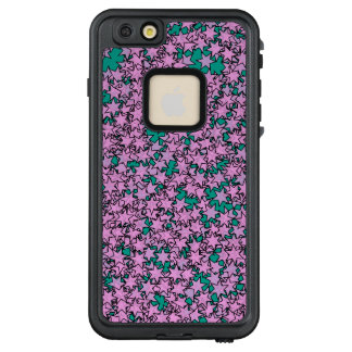 Neon Purple Green Turquoise Stars LifeProof FRĒ iPhone 6/6s Plus Case