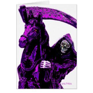 Neon Purple Grim Reaper Horseman Series by Valpyra Card