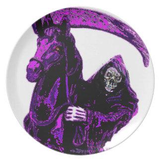Neon Purple Grim Reaper Horseman Series by Valpyra Plate