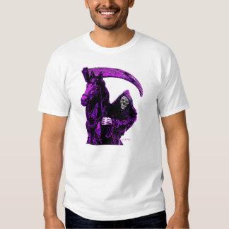 Neon Purple Grim Reaper Horseman Series by Valpyra T Shirt