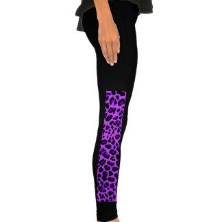 Neon purple leopard print pattern legging