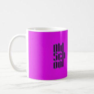 Neon Purple Old School Coffee Mug