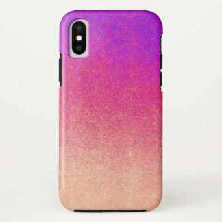 Neon Purple Pink Peach Ombre Spray Paint Texture iPhone X Case