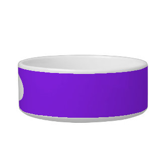 Neon Purple Solid Color Customize It Bowl