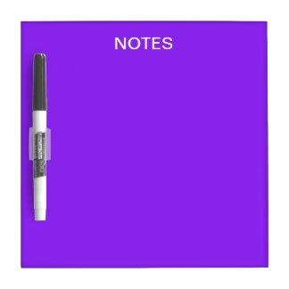 Neon Purple Solid Color Customize It Dry Erase Board