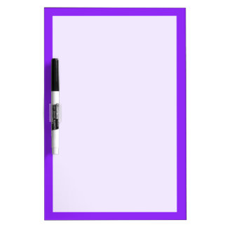 Neon Purple Solid Color Customize It Dry-Erase Board