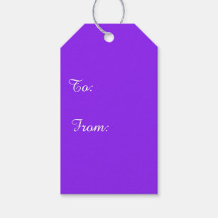 Diy do it yourself gift tags zazzle neon purple solid color customize it gift tags solutioingenieria Gallery