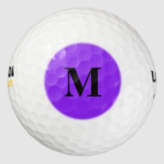 Neon Purple Solid Color Customize It Golf Balls