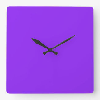 Neon Purple Solid Color Customize It Square Wall Clock