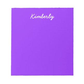 Neon Purple Solid Color Notepad