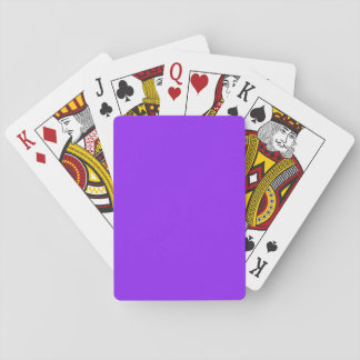 Neon Purple Solid Color Poker Cards