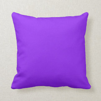 Neon Purple Solid Color Throw Pillows