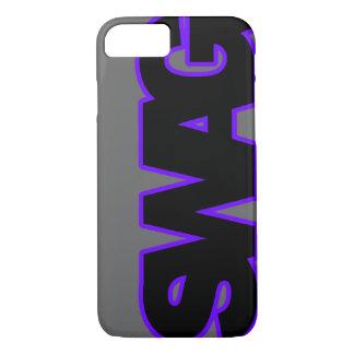Neon Purple SWAG iPhone 7 Case