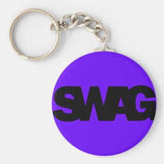 Neon Purple SWAG Keychain