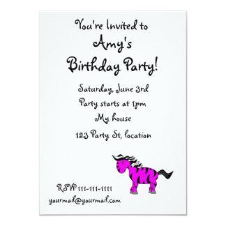 Neon purple unicorn 4.5x6.25 paper invitation card