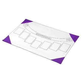 Neon Purple Velvet Personalized Home Casino Cloth Placemat