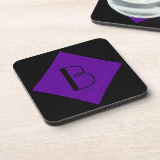 Neon Purple Velvet Personalized Home Casino Coaster