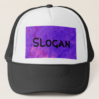 Neon Purple Watercolor Painting to Customize Trucker Hat