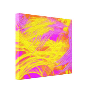 Paint Brush Strokes Wrapped Canvas Prints Zazzle