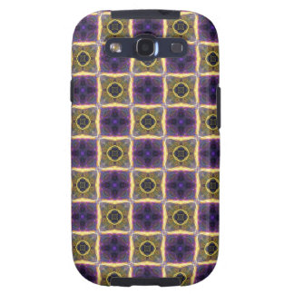 Neon Quilt Pattern Samsung Galaxy SIII Cover