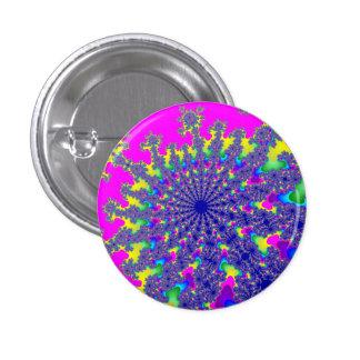 Neon Rainbow Burst Small Round Button