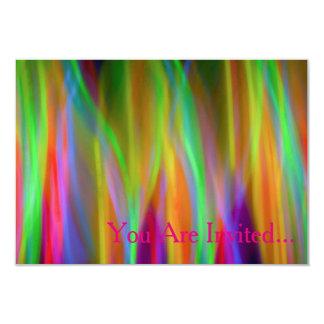 Neon Rainbow Invitation