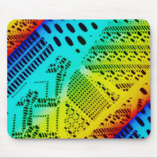 Neon Rainbow Lace Bright Colorful Mouse Pad