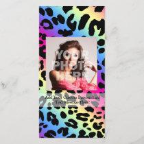 Neon Rainbow Leopard Pattern Print